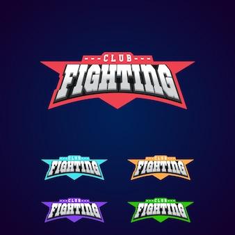 Combatti l'emblema del club. logo sportivo di arti marziali miste