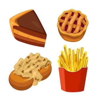 Comfort concetto di fast food malsano