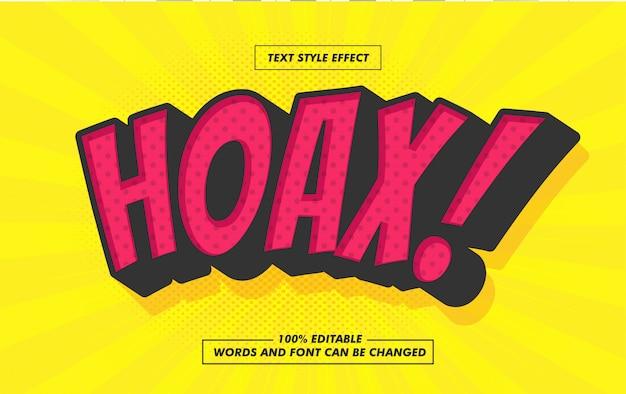 Comic bubble hoax effetto stile testo