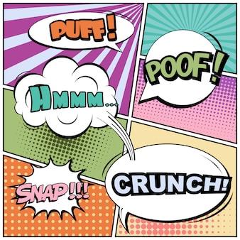 Comic stile pop art vuoto.