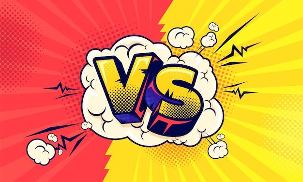 Comico contro concetto competitivo vs piatto
