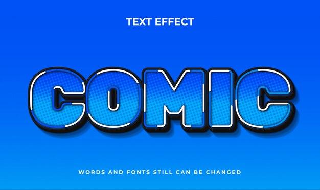 Comico effetto di testo modificabile in 3d stile di testo elegante