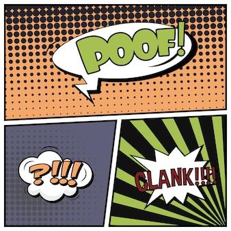 Comico stile pop art