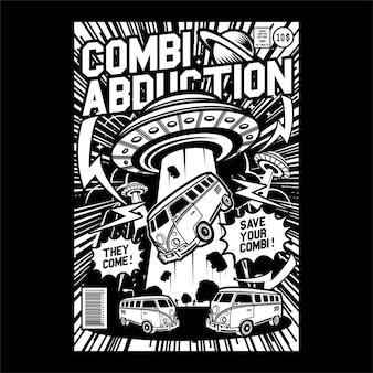 Comics abduction comic cover art