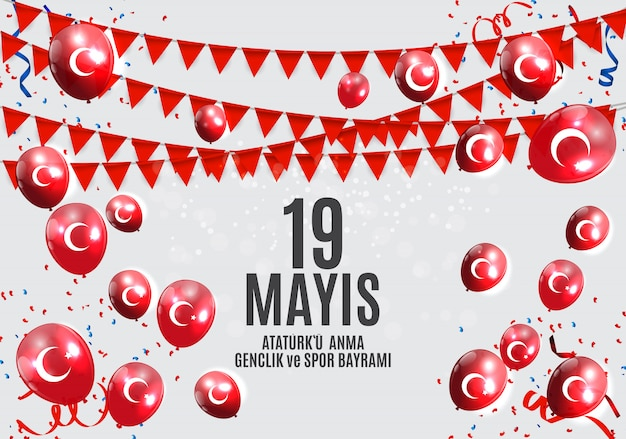 Commemorazione del passato di ataturk, gioventù e sport