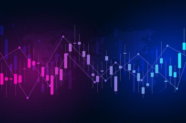 Commercio di investimento del mercato grafico di borsa valori.