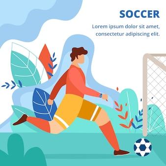 Competizione di calcio, gioco, obiettivo calciatore