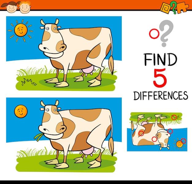 Compito di differenze per i bambini