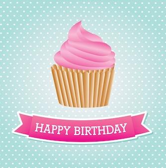 Compleanno della torta della tazza