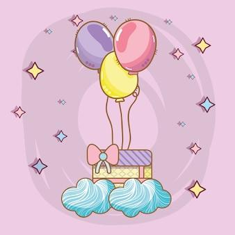 Compleanno, festa, unicorno, cartoni animati di festa