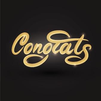 Complimenti lettering design banner