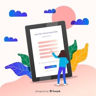 Compositio di registrazione online moderno