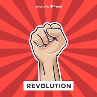 Composizione classica di rivoluzione con il pugno