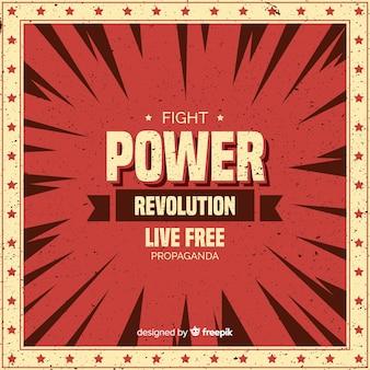 Composizione classica di rivoluzione con stile grunge