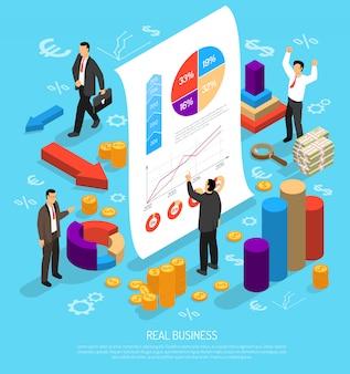 Composizione concettuale in infographic di affari
