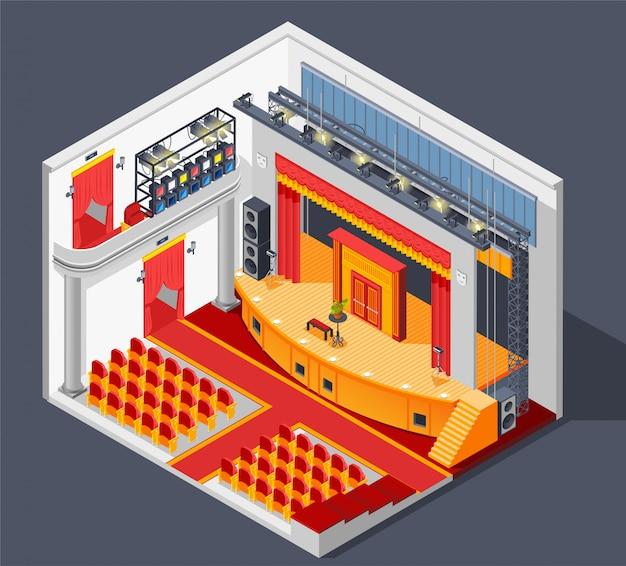 Composizione degli interni del teatro