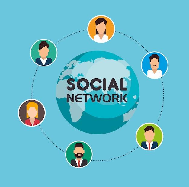 Composizione dei social network