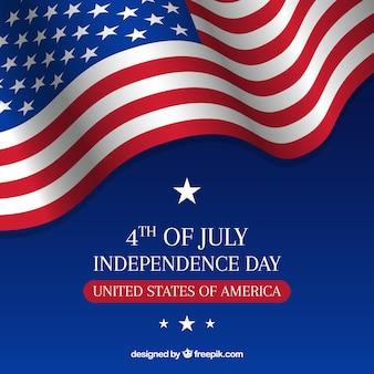 Composizione del giorno dell'indipendenza degli usa con bandiera realistica