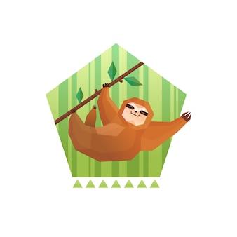 Composizione del pentagono bradipo dell'albero