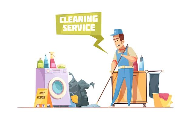 Composizione del servizio di pulizia