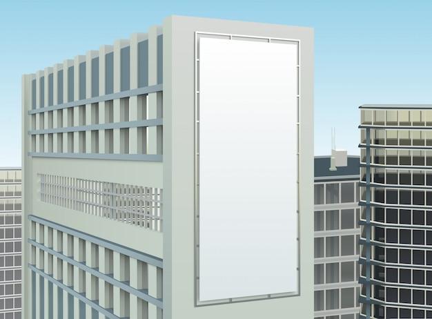 Composizione del sito di pubblicità del paesaggio urbano di costruzione