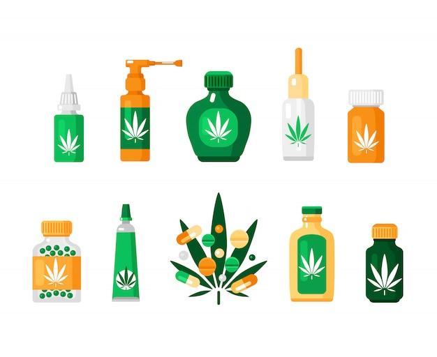 Composizione della cannabis della farmacia
