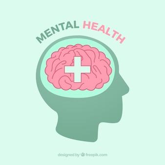 Composizione della salute mentale con design piatto