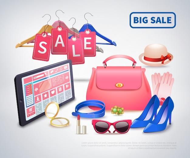 Composizione di accessori di grande vendita