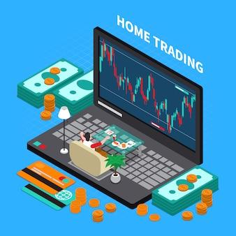 Composizione di borsa di trading online