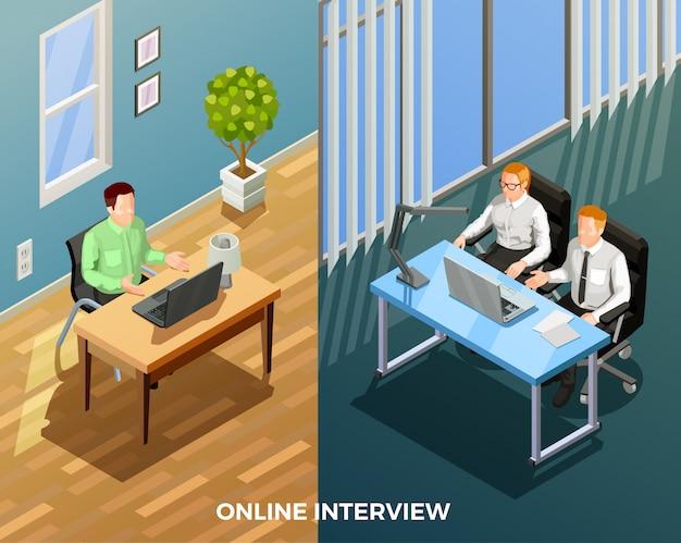Composizione di colloqui di lavoro online
