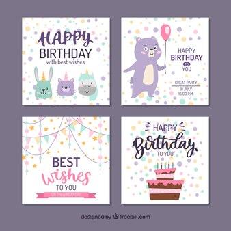 Composizione di compleanno colorato con uno stile adorabile