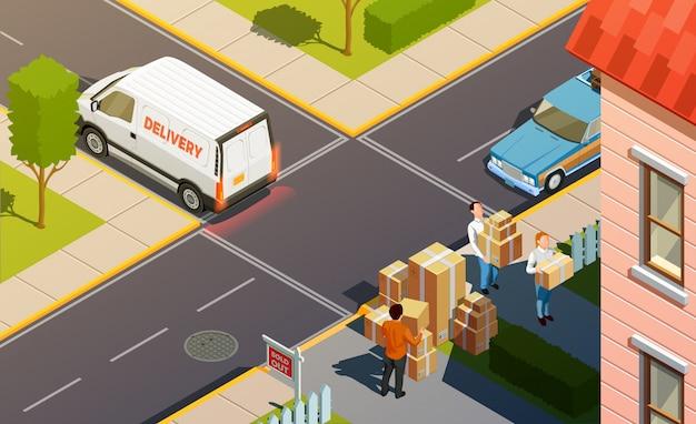 Composizione di consegna servizio corriere