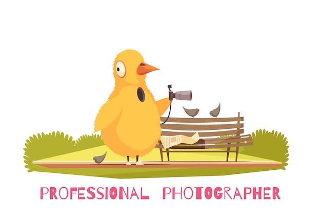 Composizione di costume di paparazzi di pollo