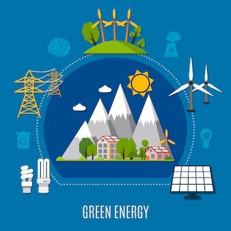 Composizione di energia verde
