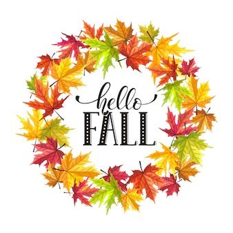 Composizione di foglie d'autunno