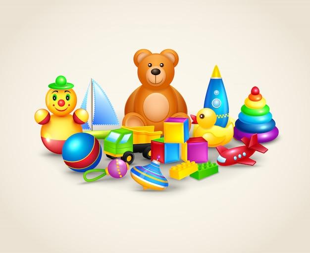 Composizione di giocattoli per bambini