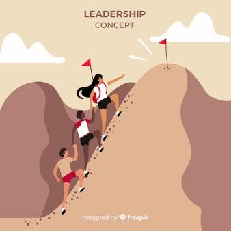 Composizione di leadership disegnata a mano originale