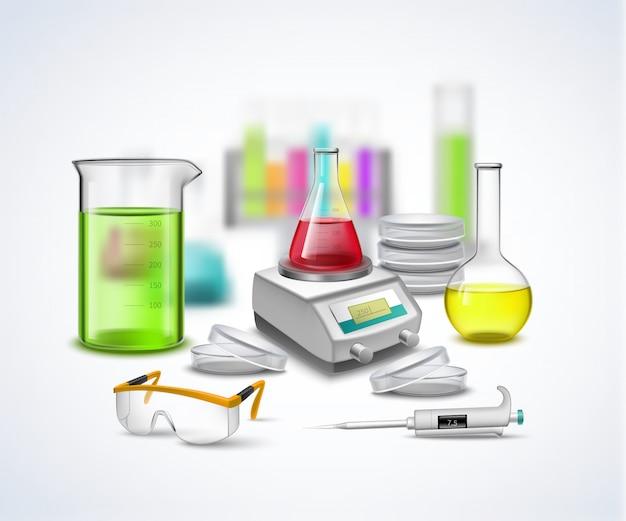 Composizione di materiale da laboratorio