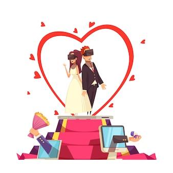 Composizione di nozze d'amore online
