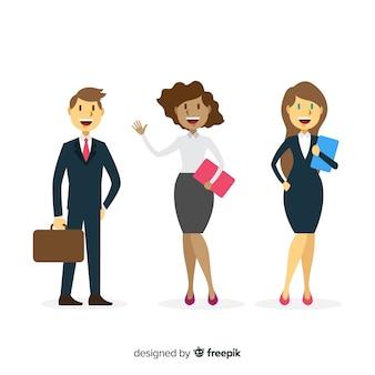 Composizione di persone ufficio moderno con design piatto
