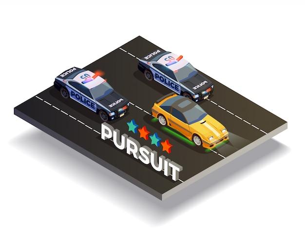 Composizione di pursuit street racing