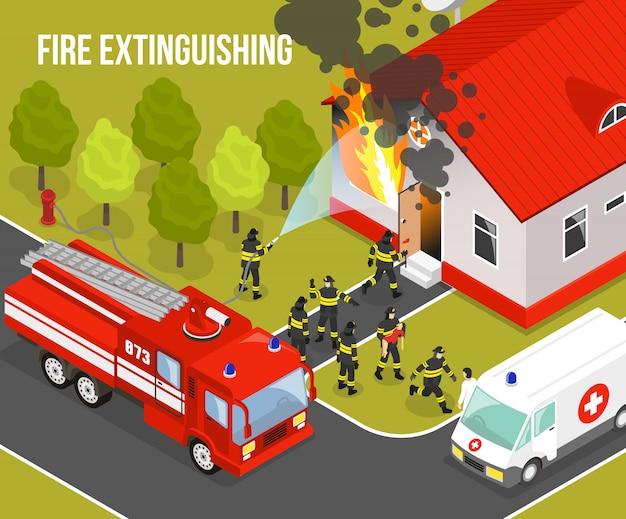 Composizione di vigili del fuoco