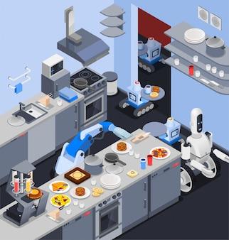 Composizione domestica di cucina robotica