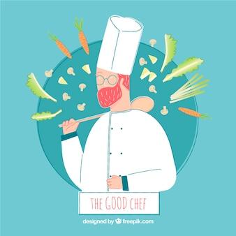 Composizione elegante chef