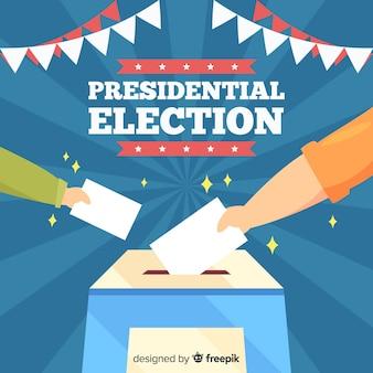 Composizione elettorale presidenziale con design piatto