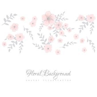 Composizione floreale colorato e banner per il tuo testo