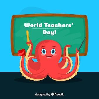 Composizione giorno di insegnanti adorabili con design piatto