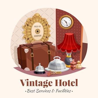 Composizione in hotel vintage