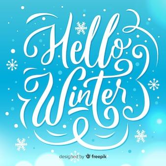 Composizione invernale con bella tipografia