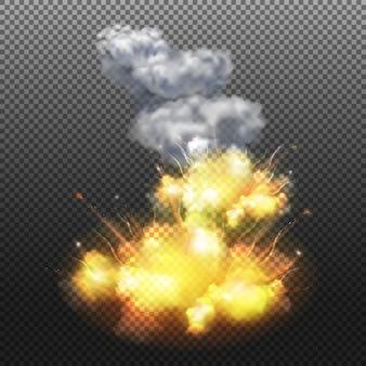 Composizione isolata esplosione